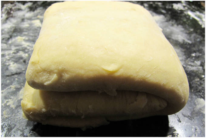 Step #3: Folded dough