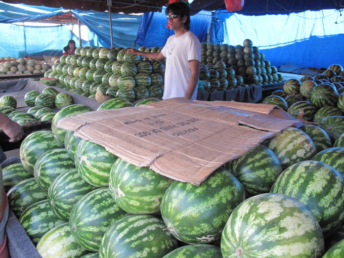 Watermelons for sale, watermelons for sale!