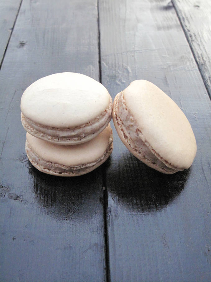 Hazelnut french macarons