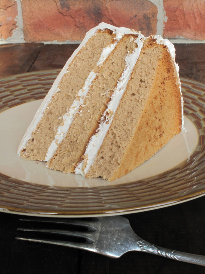 Earl Grey chiffon cake with maple meringue