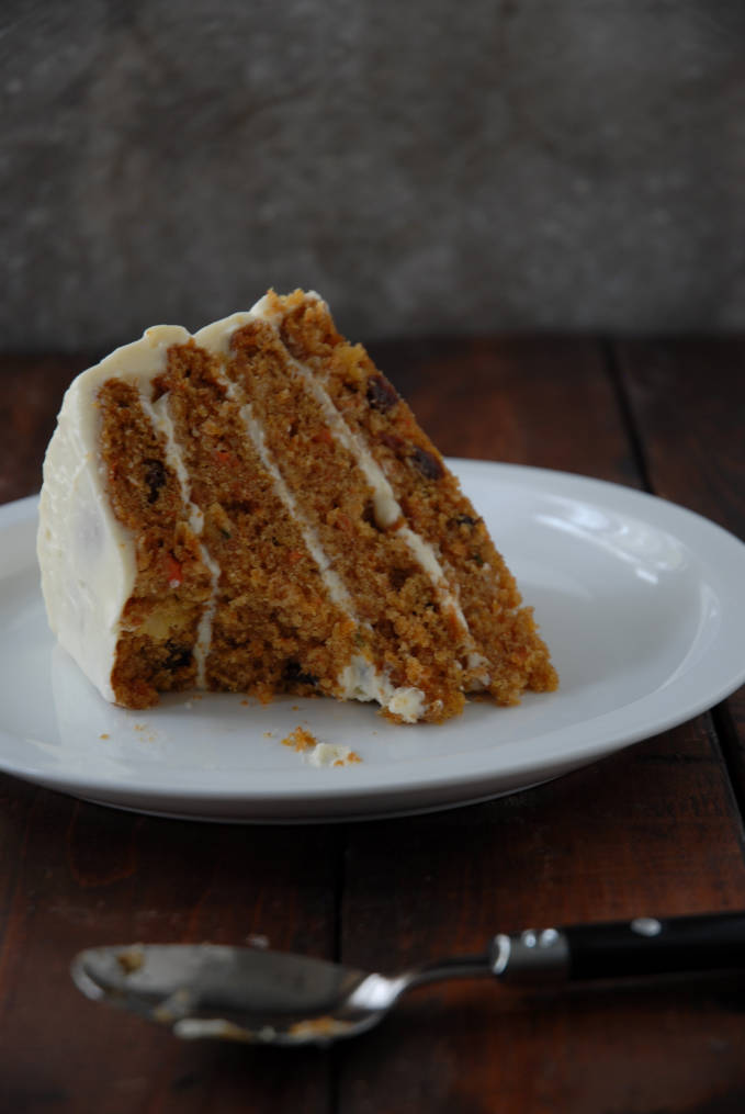 A bite of carrot cake. Want a bite too? Click for the recipe.