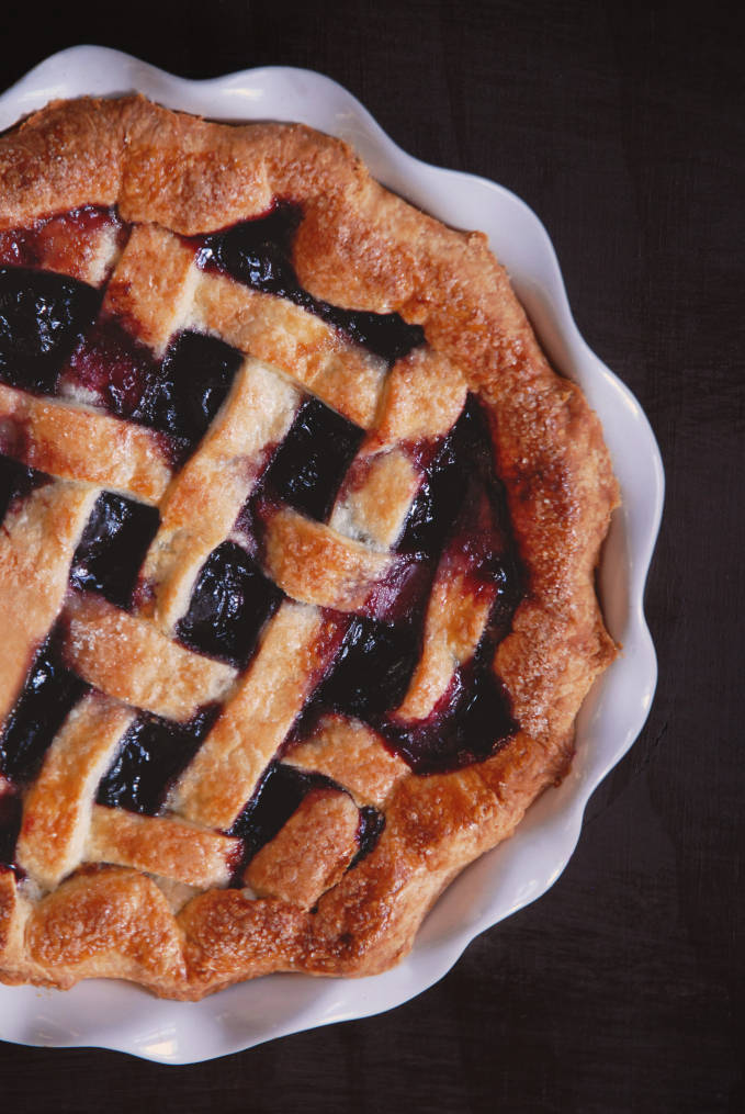 Lattice pie crusts don't have to be scary! Find out the tips and tricks for a perfect lattice, every time as I make this cherry lattice pie...
