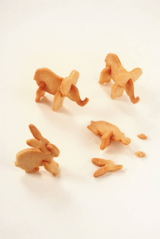 Broken 3D animal crackers, how sad! But don't worry, the trick to making these 3D cookies is super simple... just click!