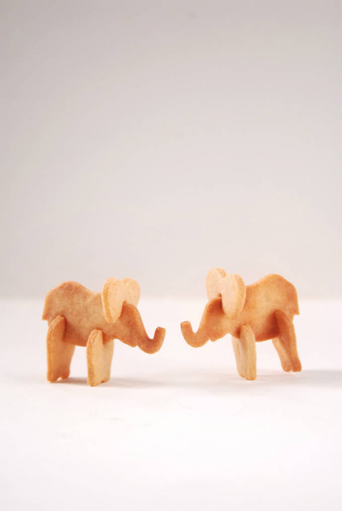 Real animals come in three dimensions. Shouldn't your cookies too? Grab the recipe for these 3D animal cracker elephants just by clicking!