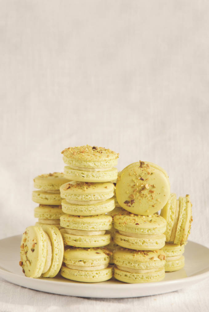 Pistachio macarons with pistachio buttercream recipe + cracking down on macaron myths: what's true and what's not?