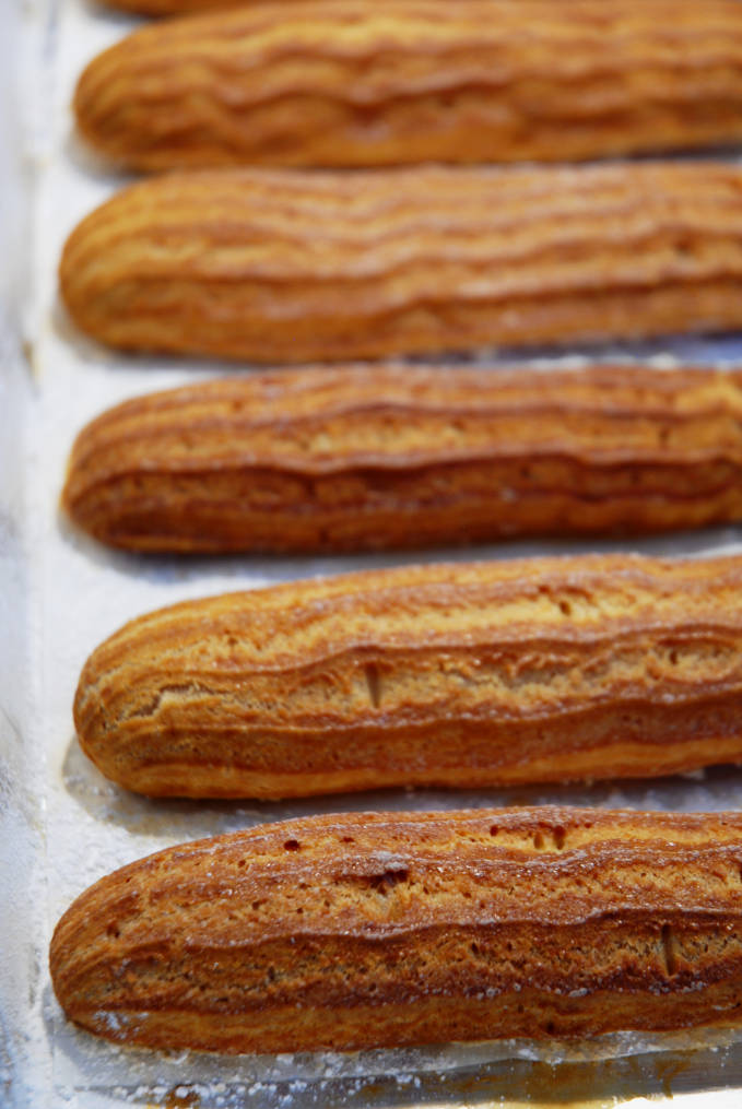 Breaking down the perfect éclair | Perfectly baked: golden-dark brown, lightly crisped, and hollow centers.