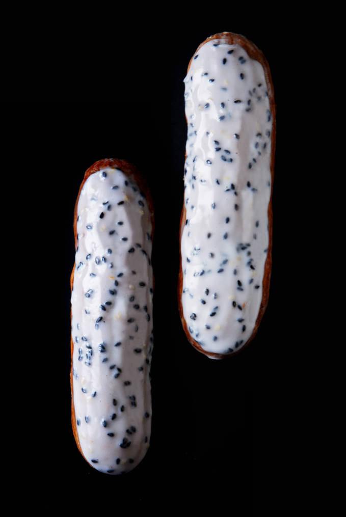 Breaking down the perfect éclair tutorial | An example: Sadaharu Aoki's black sesame éclairs