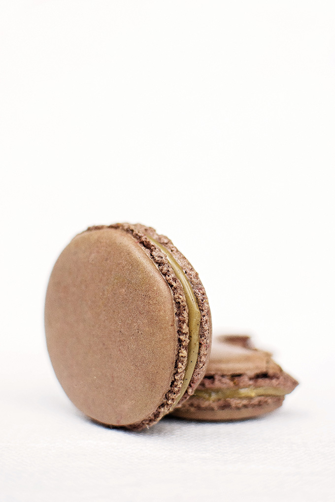 Pierre Hermé's Colombian coffee & Tahitian vanilla bean French macarons